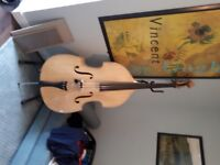 Beautiful blond Stentor 3/ upright double bass, never been out of the house since purchased