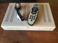 Sky+ Box with remote and power cable