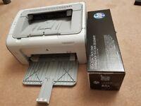 HP Laser Printer & Spare Cartridge