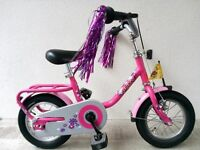 """(2595) 12"""" LIGHTWEIGHT PUKY Z2 Girls Kids Childs Bike Bicycle+ STABILISERS Age: 3-5 Height: 95-110cm"""