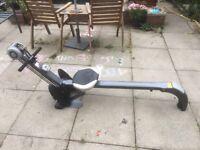 Gym n rower silver rowing machine