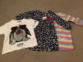 Bundle of toddler girl clothes 1-2 years (some new and unusued)
