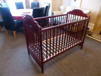 MAMAS & PAPAS COT MAHOGANY COLOUR FROM JOHN LUWIS