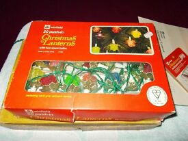 Retro Vintage 1970's Lantern Christmas Tree Lights