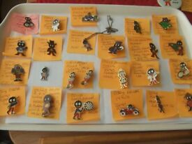 ROBERTSONS CHARACTER BADGES, MANY VARIOUS ONES . VARIOUS PRICES.