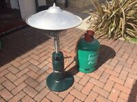 Patio heater (table top) and gas canister