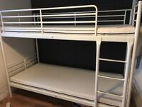 Bunk Bed, white metal ikea in good condition