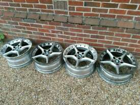BMW Z4 alloy wheels x 4 will need refurb