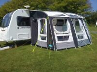 Used, Kampa Rally Pro Ace 400 Caravan Awning. Like new used 4 times. W 400x D 300cm. Fit van 235-250 H for sale  Blaenau Gwent