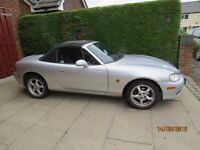 "MAZDA MX5 CONVERTABLE ""53 REG"" 86,000 MILES SILVER MOT MARCH 2017"