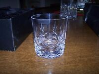 Hand cut crystal Royal Doulton Dorchester Tumblers x6 and spirt decanter