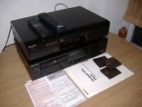 sony cdp-761e cd player & mds-je480 minidisc player etc all in excellent condition