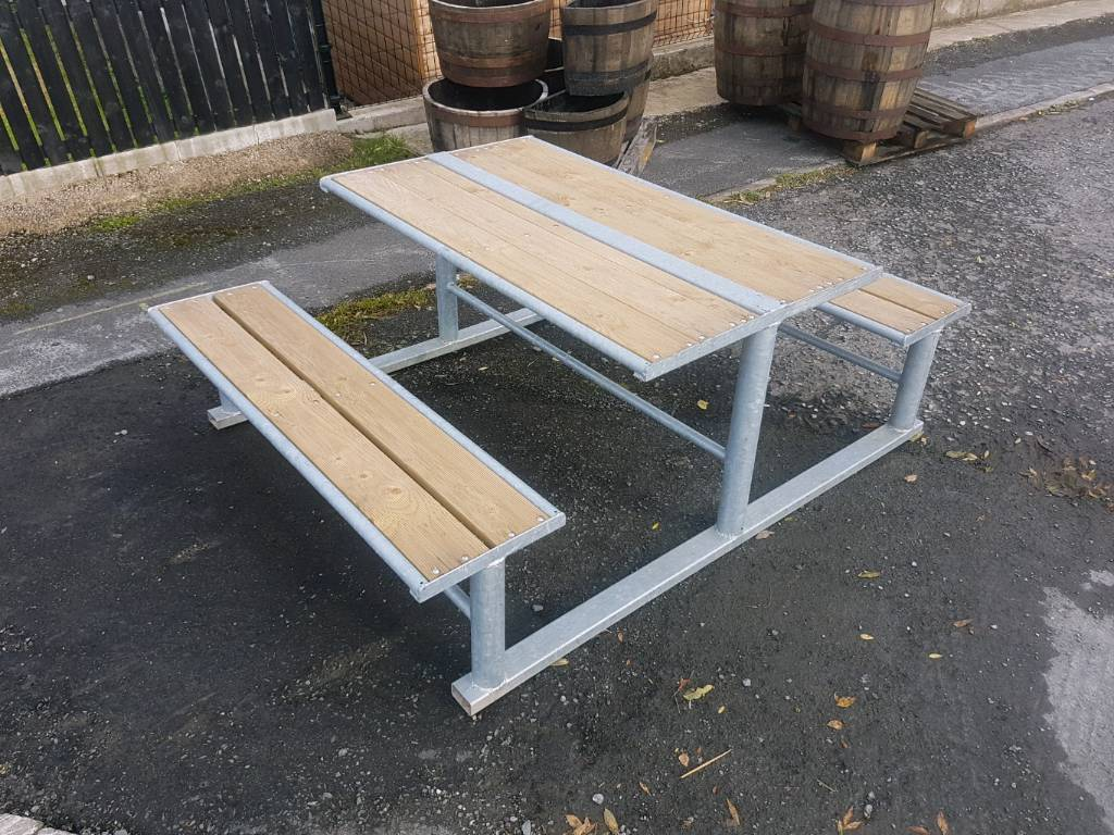 Heavy duty galvanised picnic tables perfect for caravans