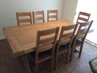 Heavy table & 8 chairs