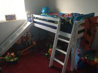 Single mid sleeper bed with slide