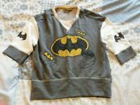 Batman cropped pyjama jumper top size 10
