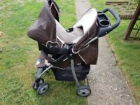 Pushchair ,3 in 1 Baby Stroller Travel System