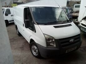 ford transit swb 85 t, 280s fwd, 2008 reg, 2.2 turbo diesel, 113k, new mot on purchase, px poss
