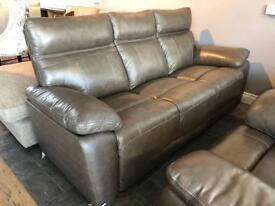 New/Ex-display** Brown genuine leather 3+1+1 suite
