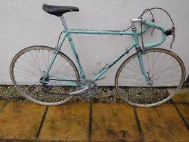 Classic 1970's Celeste Green Bianchi race bike