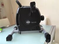 Gym mate barely used. It allows you to cycle without leaving your home.