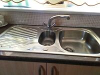 Stainless Steel Sink c/w TAPS