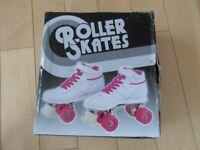 girls Blazer xs white/pink roller skates size 1 excellent condition