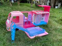 Barbie Dream Pink Pop Out Camper including Pool & Slide, Kitchen, Bathroom & Bed