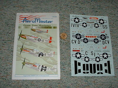 AeroMaster decals 1/48 48-634 Green Nose Mustangs East Wretham Pt1 E128