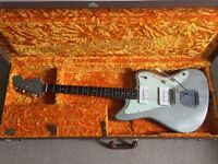 Custom Jazzmaster clone with Fender hard case