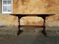 Ercol Table Dark Refectory Plank Farmhouse Rustic