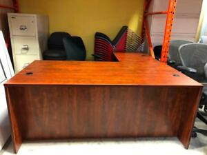 L-Shape Desk with Box/File Pedestal - 72 x 72 - Brand New - $605.00