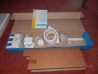 New Team White Gravity Fed Shower Kit BNIB - with instruction booklet