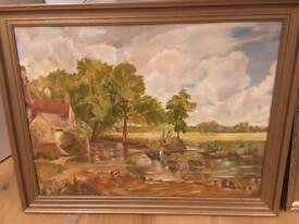 Two original landscape paintings - John Constable style