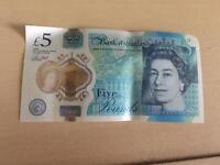 Ak47 £5 brand new note