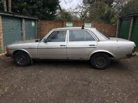 Mercedes 240D 2399cc Diesel 5 speed manual 4 door saloon B Reg 24/04/1985 Gold