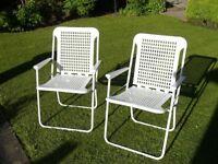 Two Folding Camping/Garden Chairs