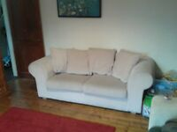 BEIGE SOFA BED FOR SALE £120!!!