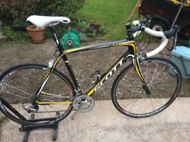 2012 Scott CR1 Comp full carbon road bike in original condition and less than 100 miles use.