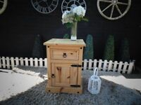 CORONA PINE SIDE CABINET LARGE SIZE VERY SOLID CABINET AND IT'S IN VERY GOOD CONDITION