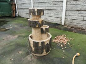 log water feature.