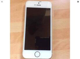 I Phone 5s Unlocked White/Gold