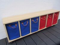 Lazzari STORAGE SYSTEM with 6 colourful baskets