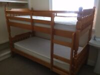 Bunk beds - used occationally- Mattresses like new (always covered)