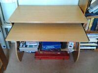 Computer Desk, Oak effect.