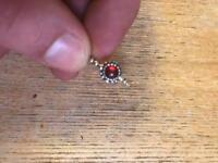 Pandora ring size N purple