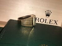 13g 9ct gold ring (rolex) 1.26 ct