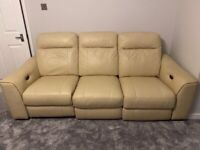 3 piece and 2 piece leather electric recliner sofas