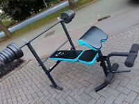 MENS ACTIVE BENCH WITH BAR & WEIGHTS