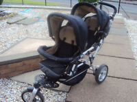 JANE Powertwin Double Buggy FOR SALE £80. Excellent condition.